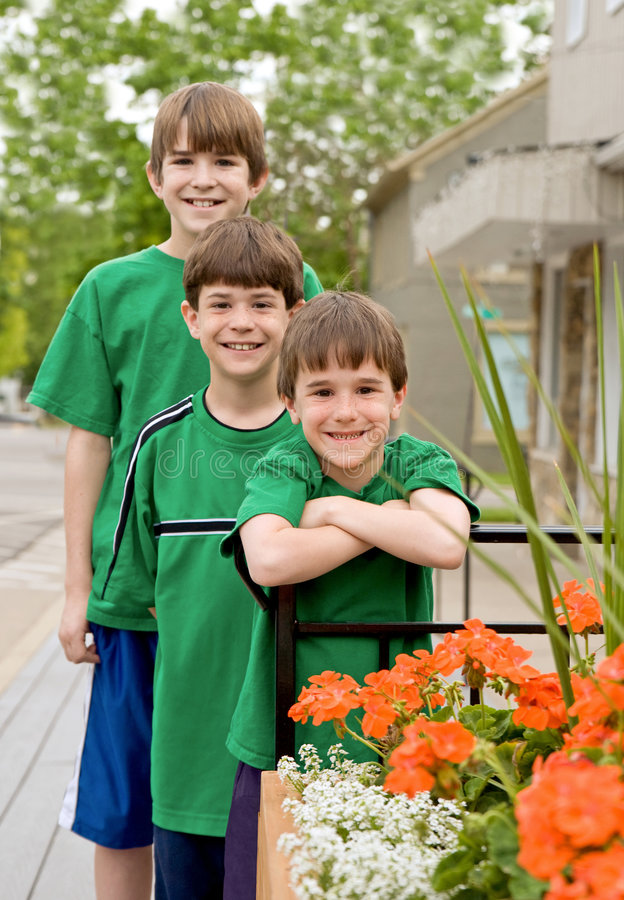 Three Brothers in Green royalty free stock photography