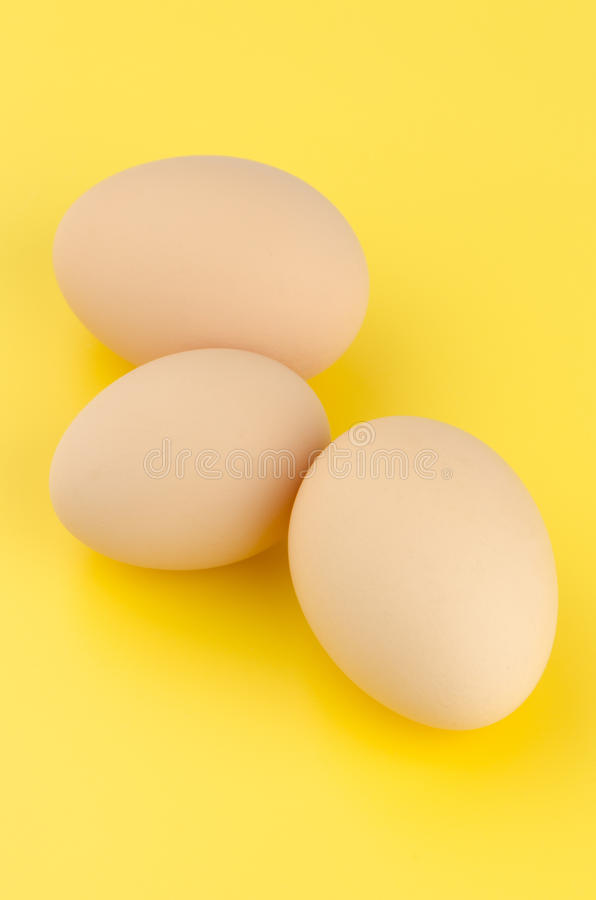 Three brown eggs royalty free stock photography