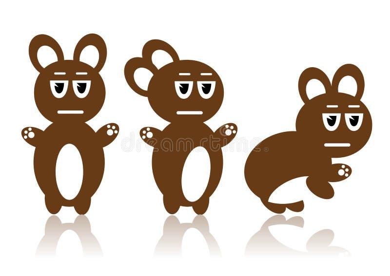 Download Three Brown rabbits stock vector. Illustration of design - 8963183