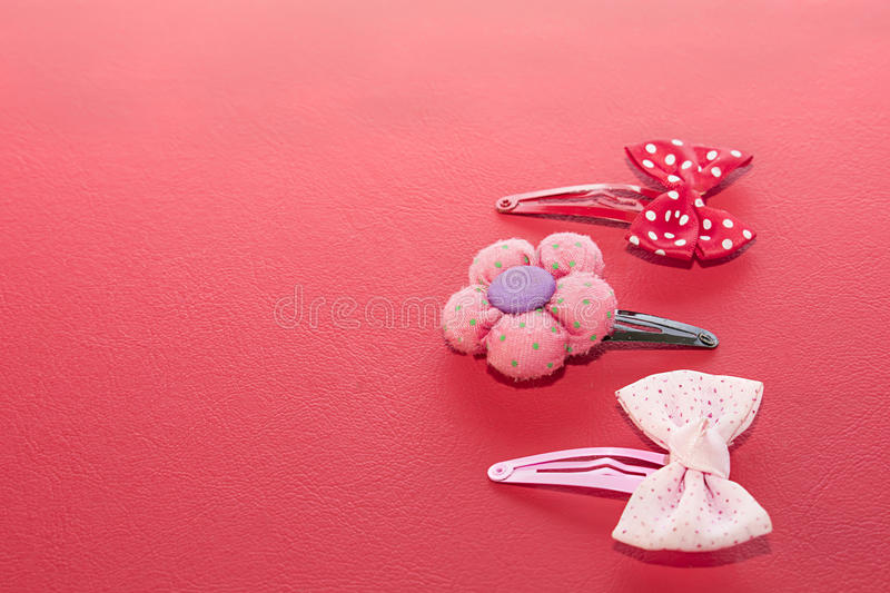 Three buckles. Three buckles with bows and flowers. On white background royalty free stock photography