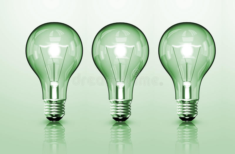 Download Three Bulb stock illustration. Image of save, home, glass - 27507209
