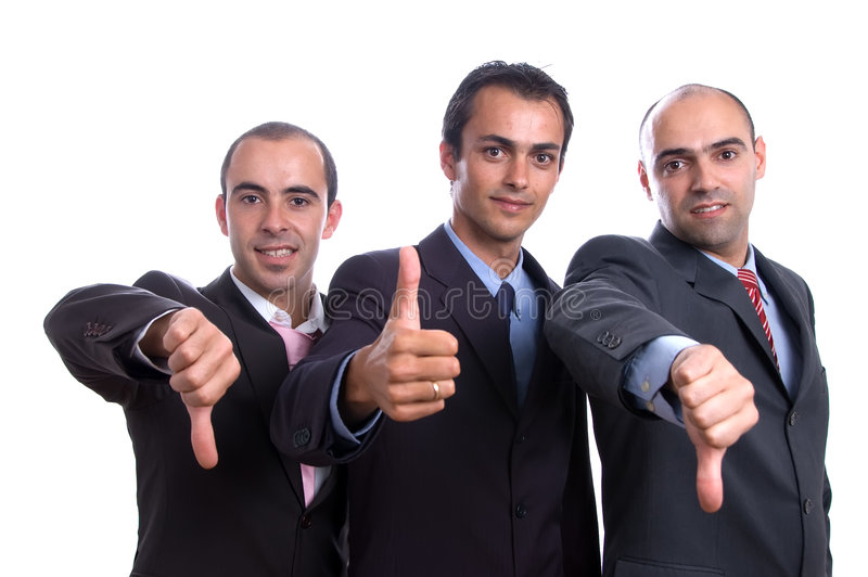 Download Three Business Man With Thumbs Stock Image - Image of cooperation, female: 3173419