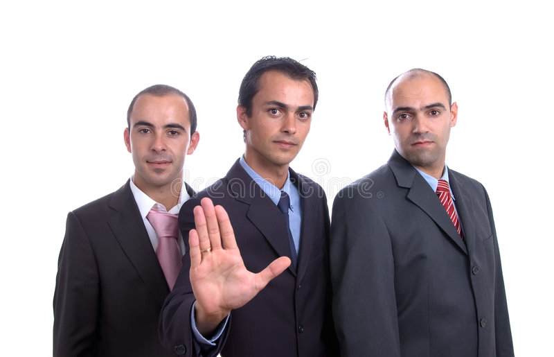 Three Business Men Royalty Free Stock Images
