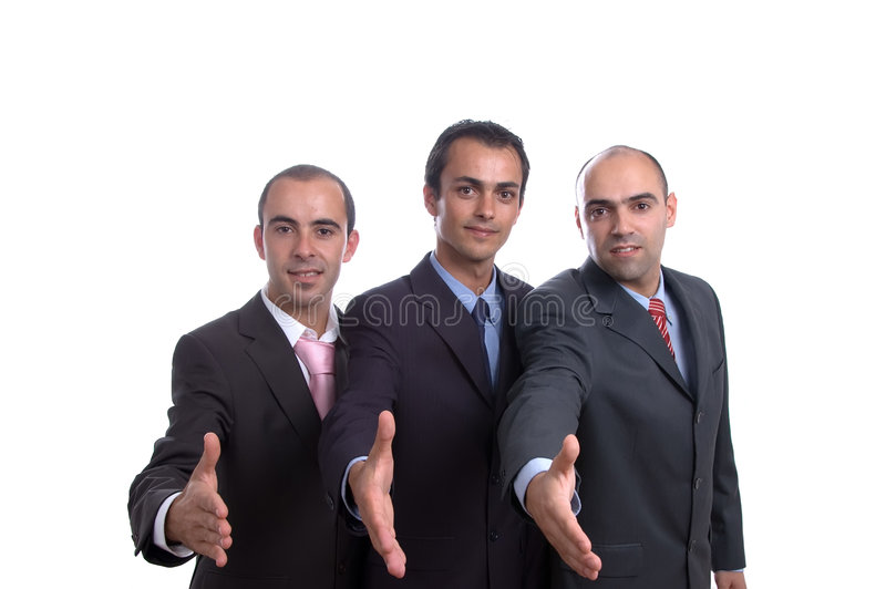 Three business men