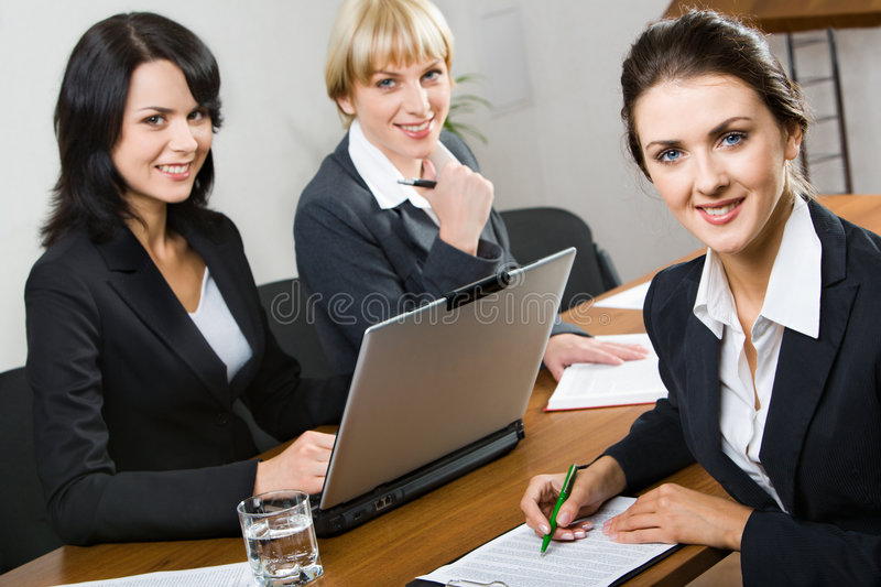 Download Three business women stock photo. Image of leaders, friendly - 3204892