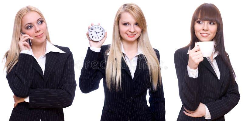 Three business women royalty free stock photos