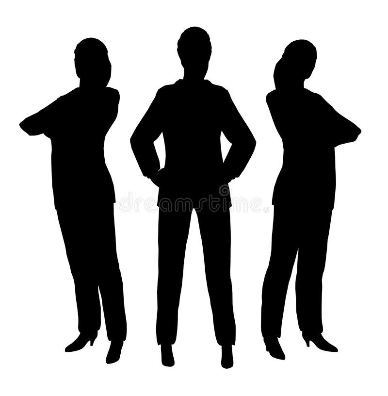 Three businesswoman royalty free illustration