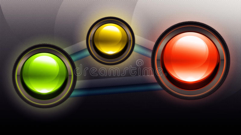 Download Three buttons stock illustration. Image of batterfly - 26543210