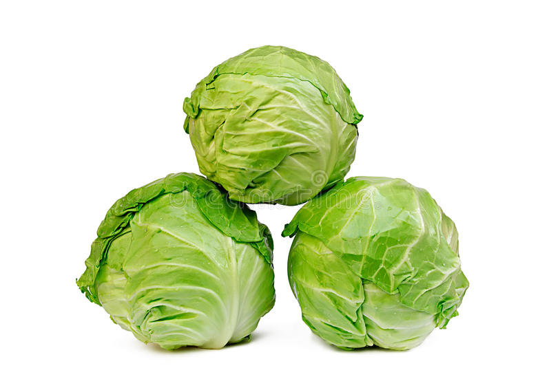Three cabbages royalty free stock photo