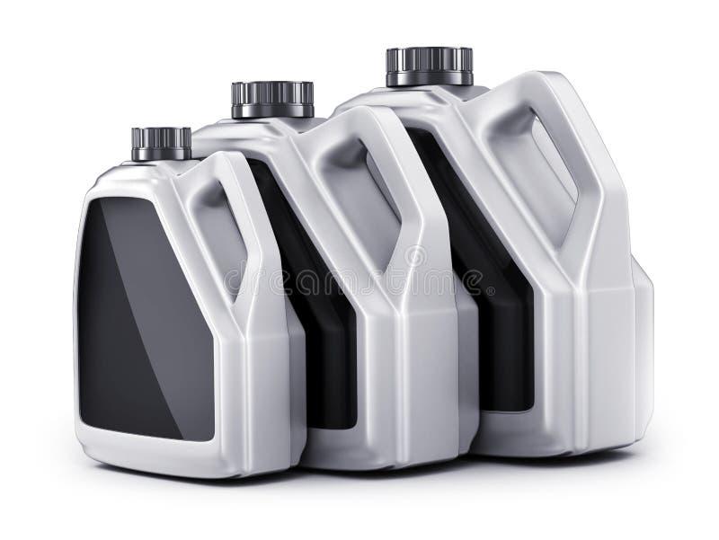 Three can working fluids car stock photos