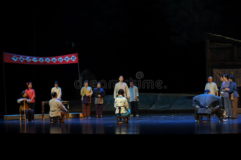 The three candidates in the election of villagers- Jiangxi opera a steelyard. Jiangxi opera a steelyard is adapted from a true story: the last century fortys royalty free stock photography