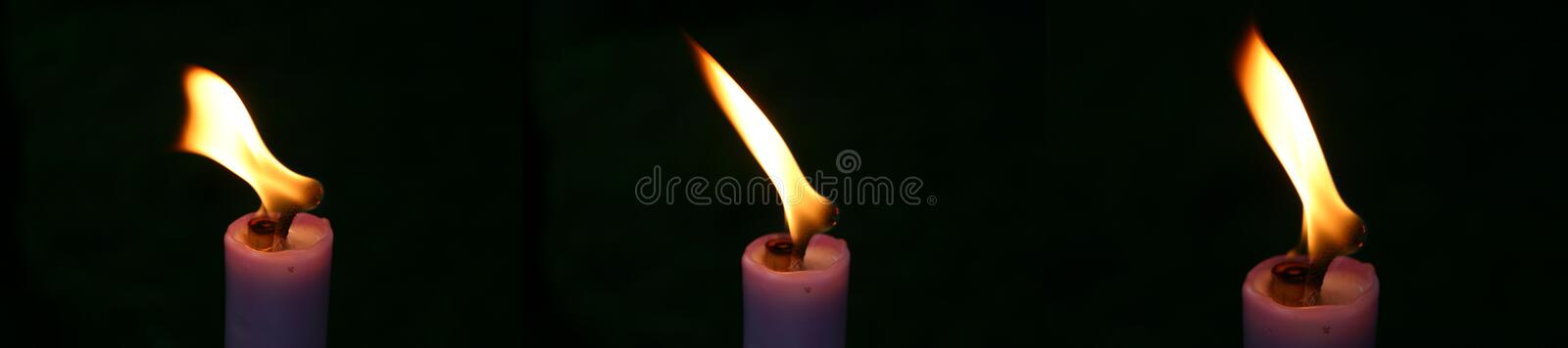 Download Three candle stock photo. Image of closeups, close, burn - 16022