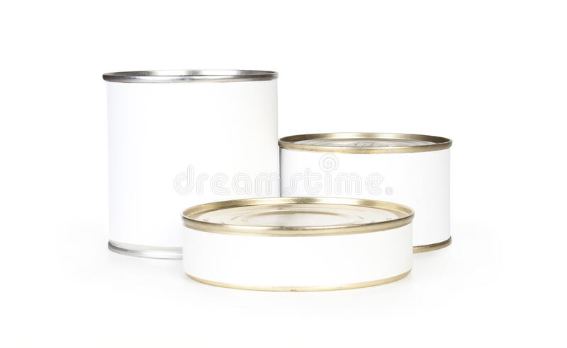 Three Canned Food Royalty Free Stock Image