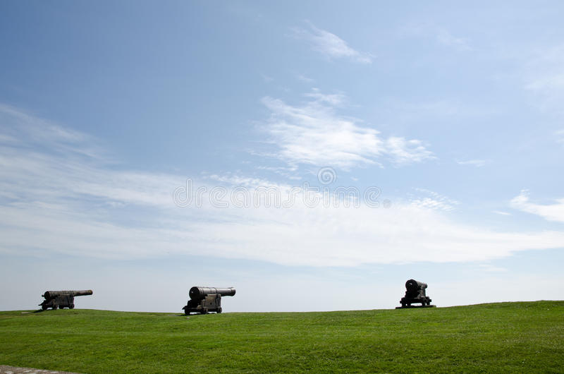 Three canons stock photo