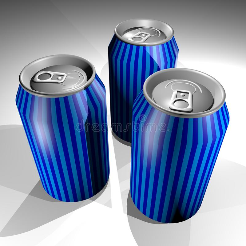 Download Three cans stock illustration. Illustration of refresh - 41364455