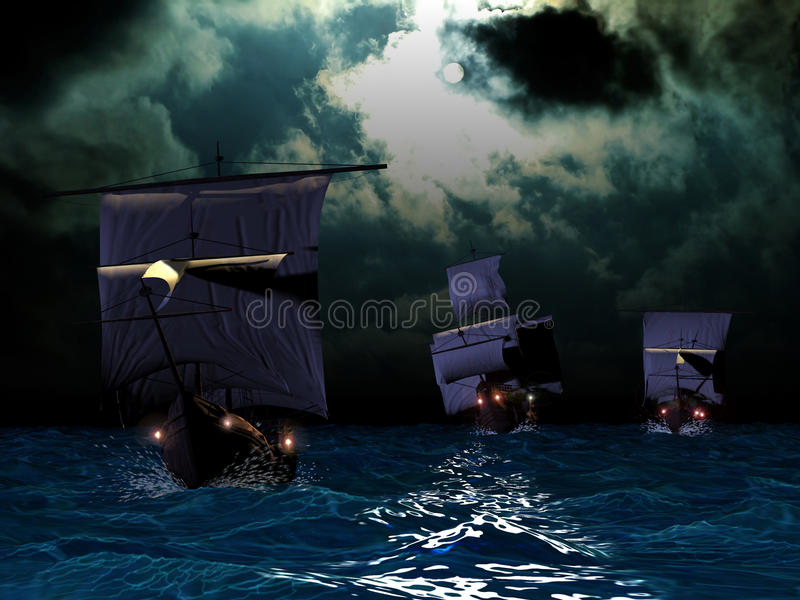 Download The Three Caravels Stock Image - Image: 10151041
