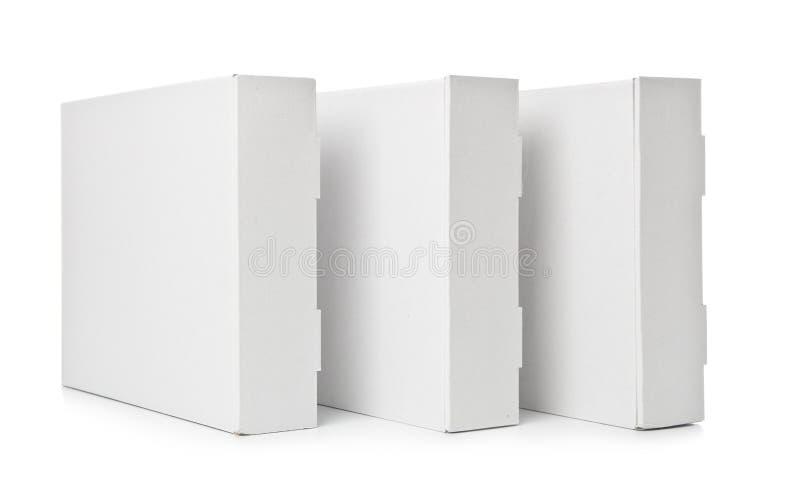 Three Cardboard Box Royalty Free Stock Photography