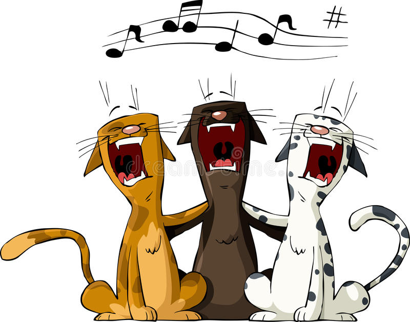 Three cat. On a white background, vector royalty free illustration