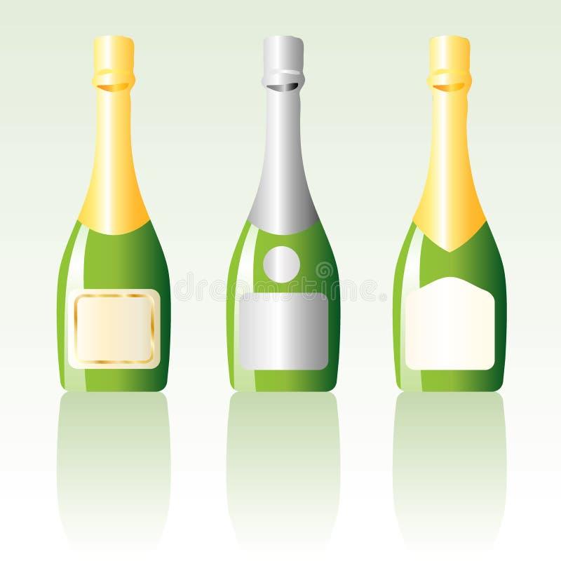 Download Three champ stock vector. Illustration of symbolic, glass - 7801588