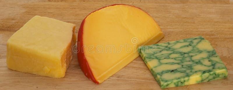Three Cheeses 1 Royalty Free Stock Photos