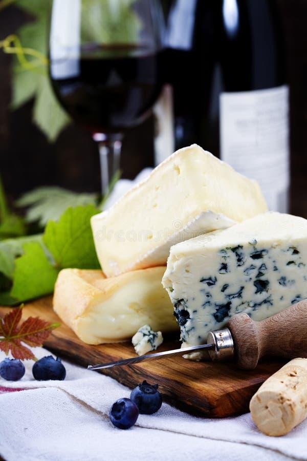 Three cheeses royalty free stock photography