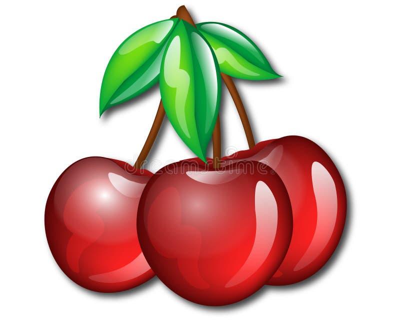 Three Cherries stock illustration