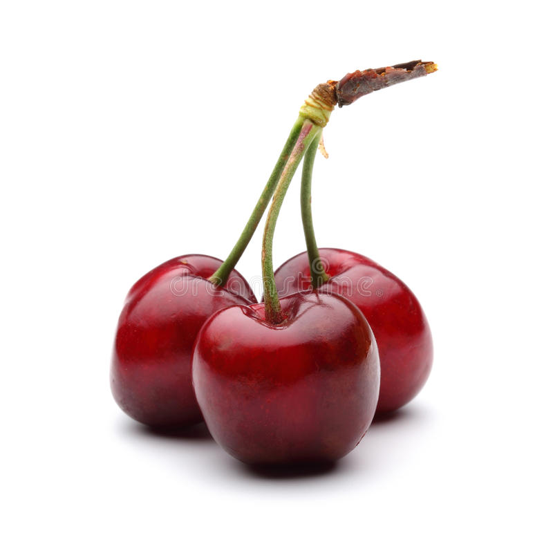 Three cherry royalty free stock images