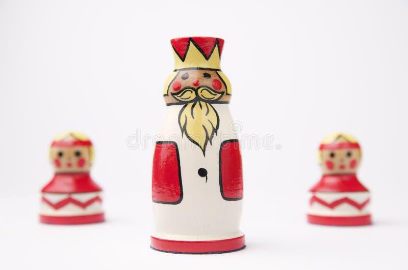 Three chess pieces stock photos