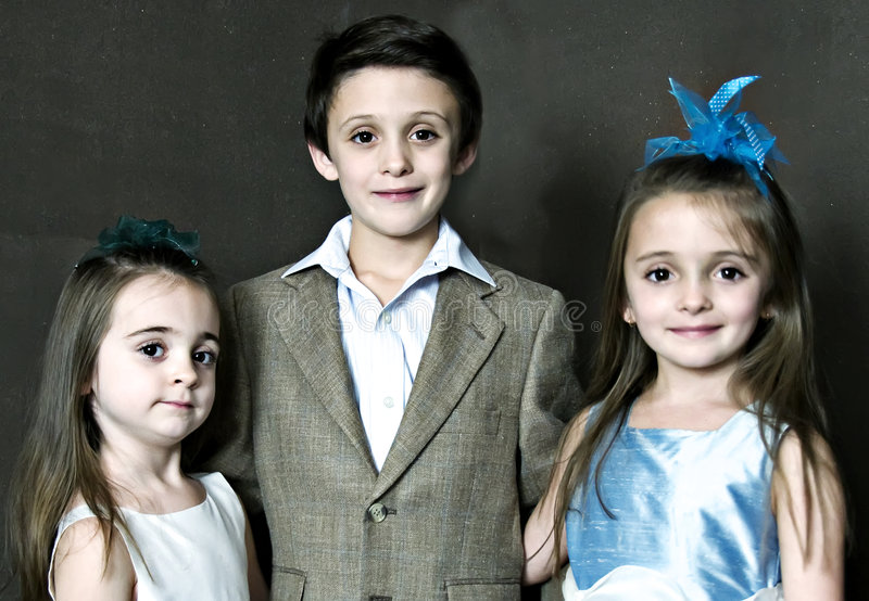 Three Children stock photo
