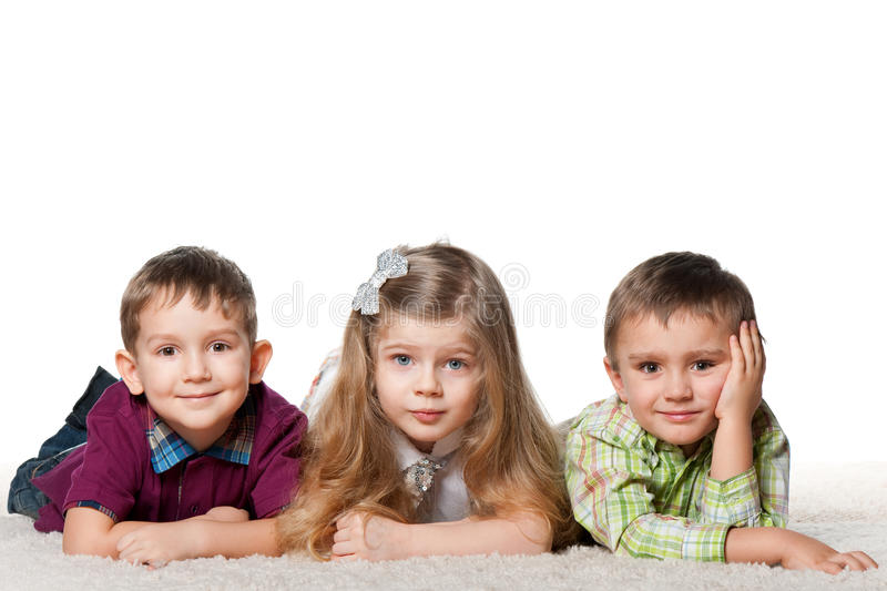 Download Three Children On The Carpet Stock Image - Image: 23826271