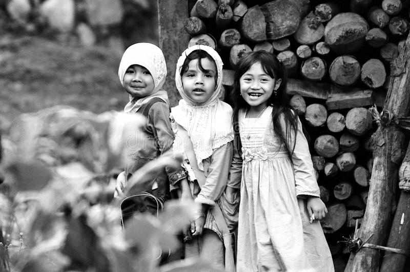 Three childrens royalty free stock image