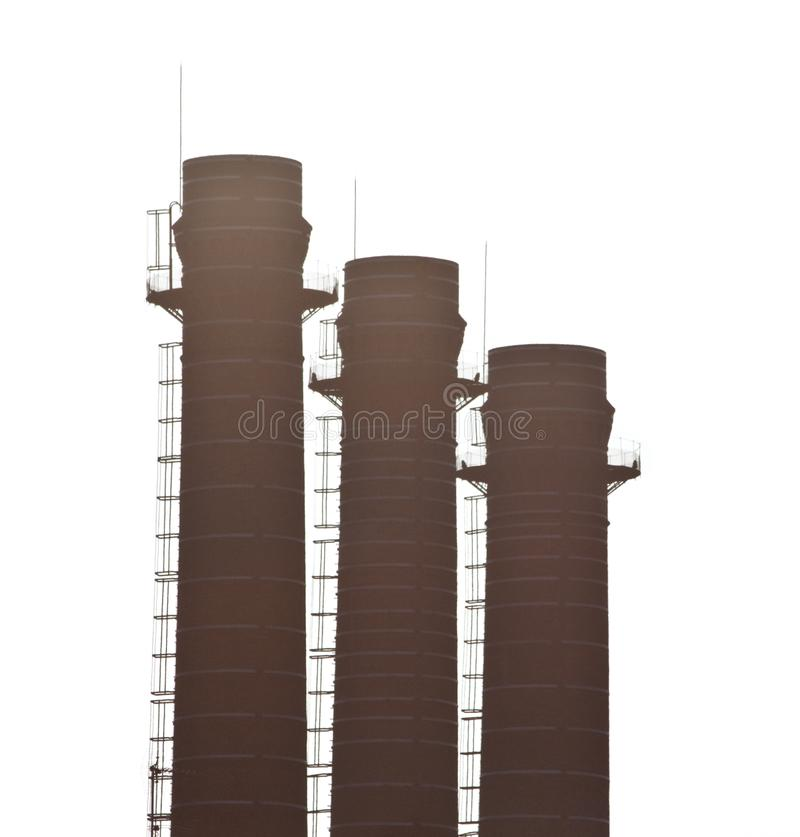 Download Three chimneys stock image. Image of pollution, environment - 13797321