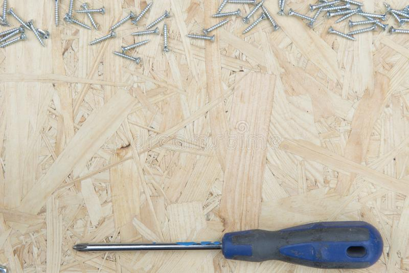 Three Chisels on a pink background. Professional chisels on a pink wood background. Visible wood grain stock photography