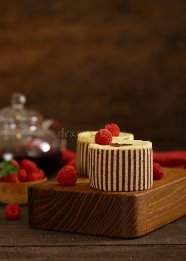 Three chocolate cake stock photography