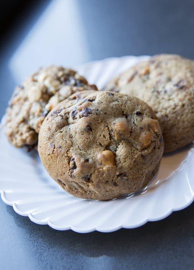 Free Three Chocolate Chip Cookies Stock Image - 24812561