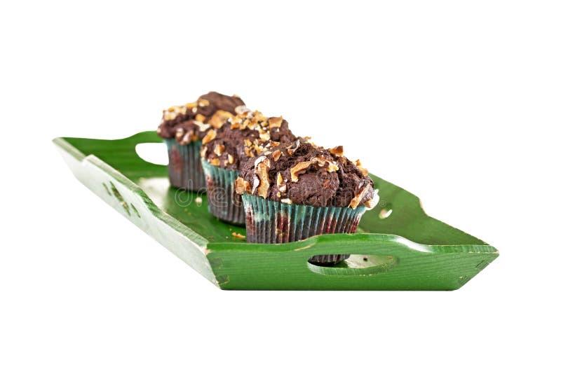 Three Chocolate Muffins Royalty Free Stock Image