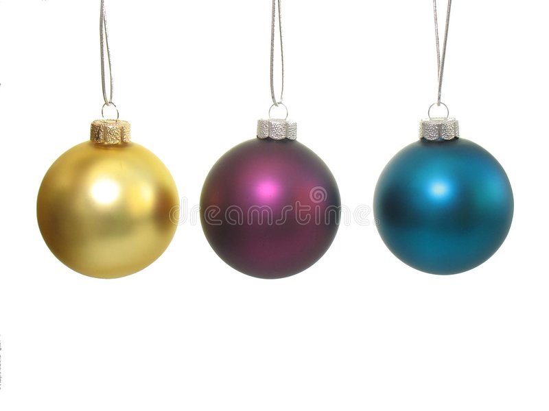 Download Three Christmas balls stock photo. Image of thread, background - 6491586