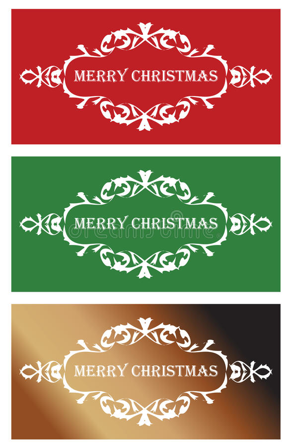 Download Three christmas banners stock vector. Illustration of label - 33531321