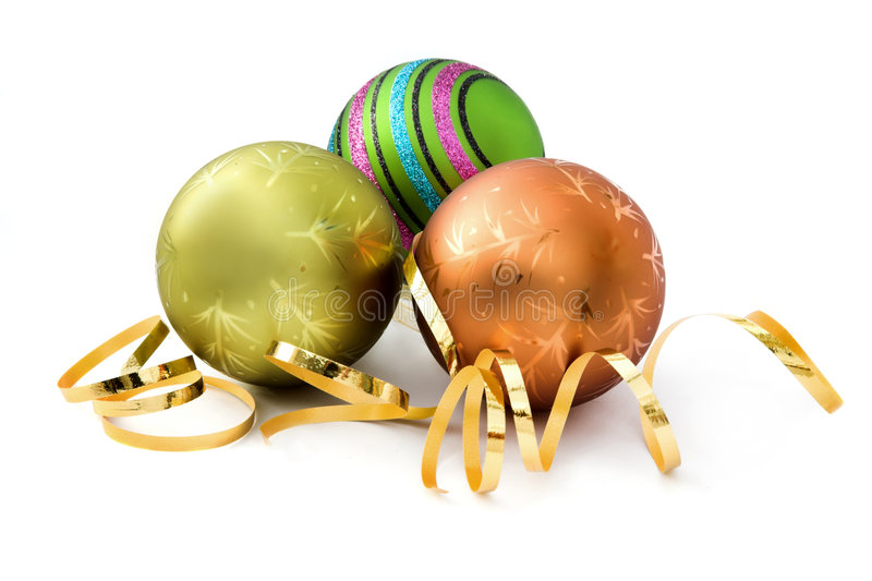 Three Christmas decorations stock images