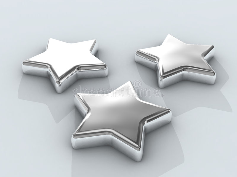 Download Three Chrome stars stock illustration. Illustration of model - 326907