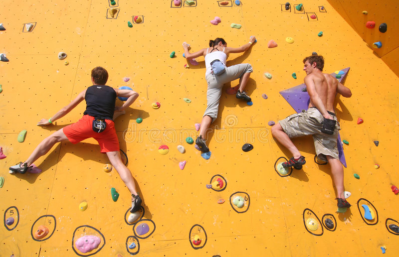 Download Three Climbers editorial photo. Image of competition, people - 6387281