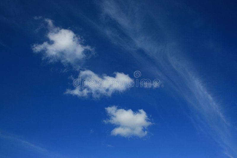 Download Three clouds stock photo. Image of nature, horizontal - 3239086