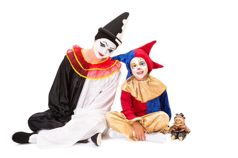Download Three clowns stock photo. Image of clown, child, little - 31064772