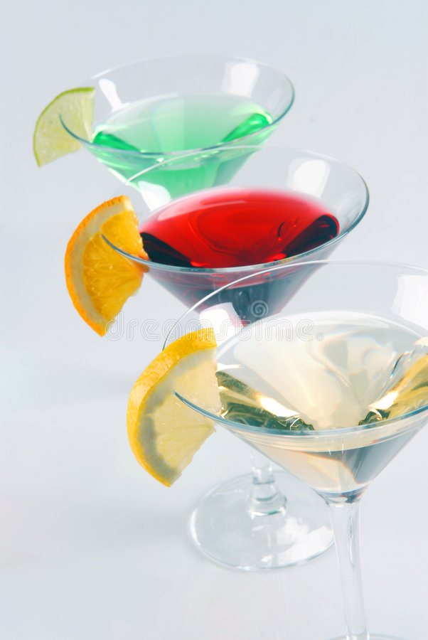 Download Three cocktails stock photo. Image of green, glasses, yellow - 8392226