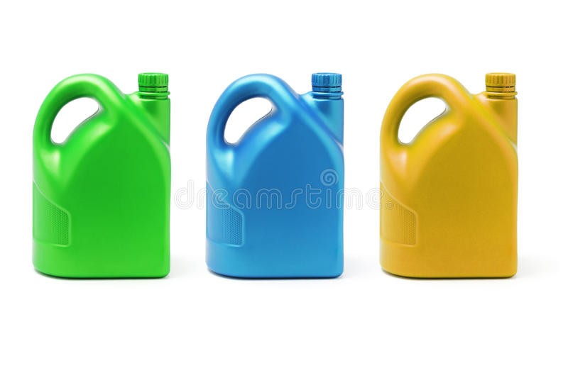 Download Three Color Containers Of Lubricant Stock Image - Image: 13238797