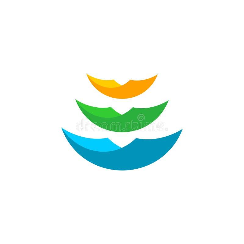 Paper sheets logo stock illustration
