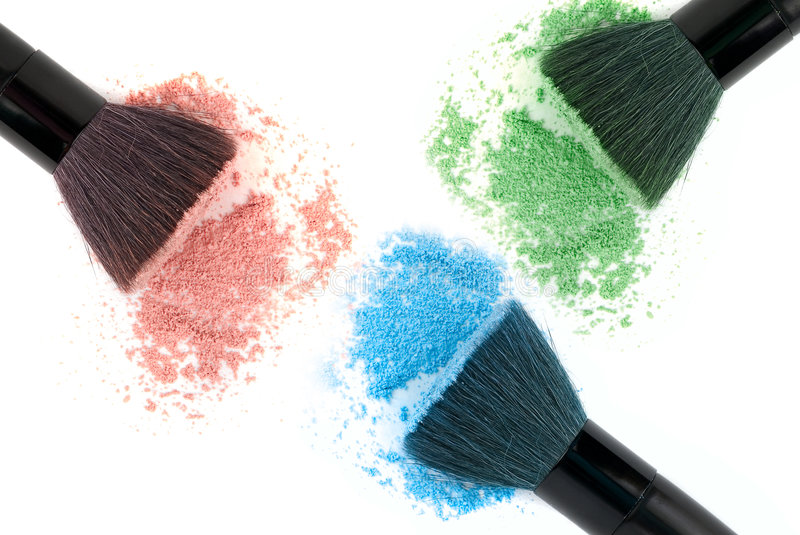 Three color powder royalty free stock images