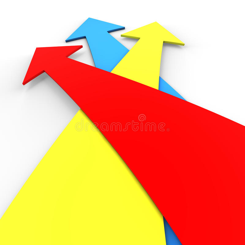 Three colorful arrows royalty free illustration