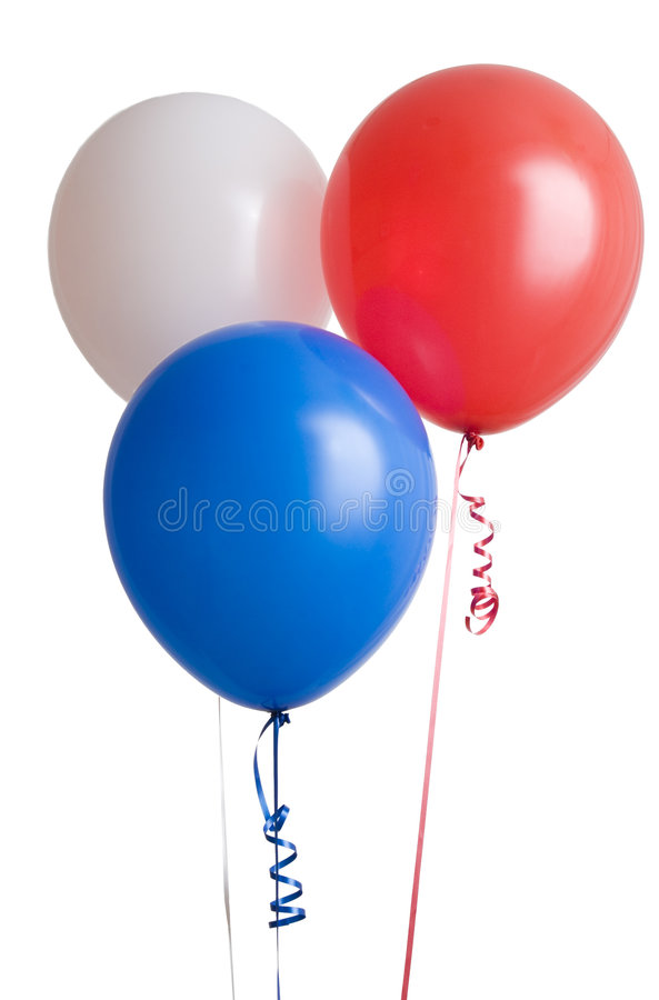 Three Colorful Balloons Stock Photo