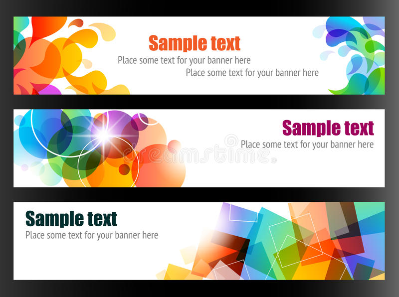 Three Colorful Banners royalty free illustration